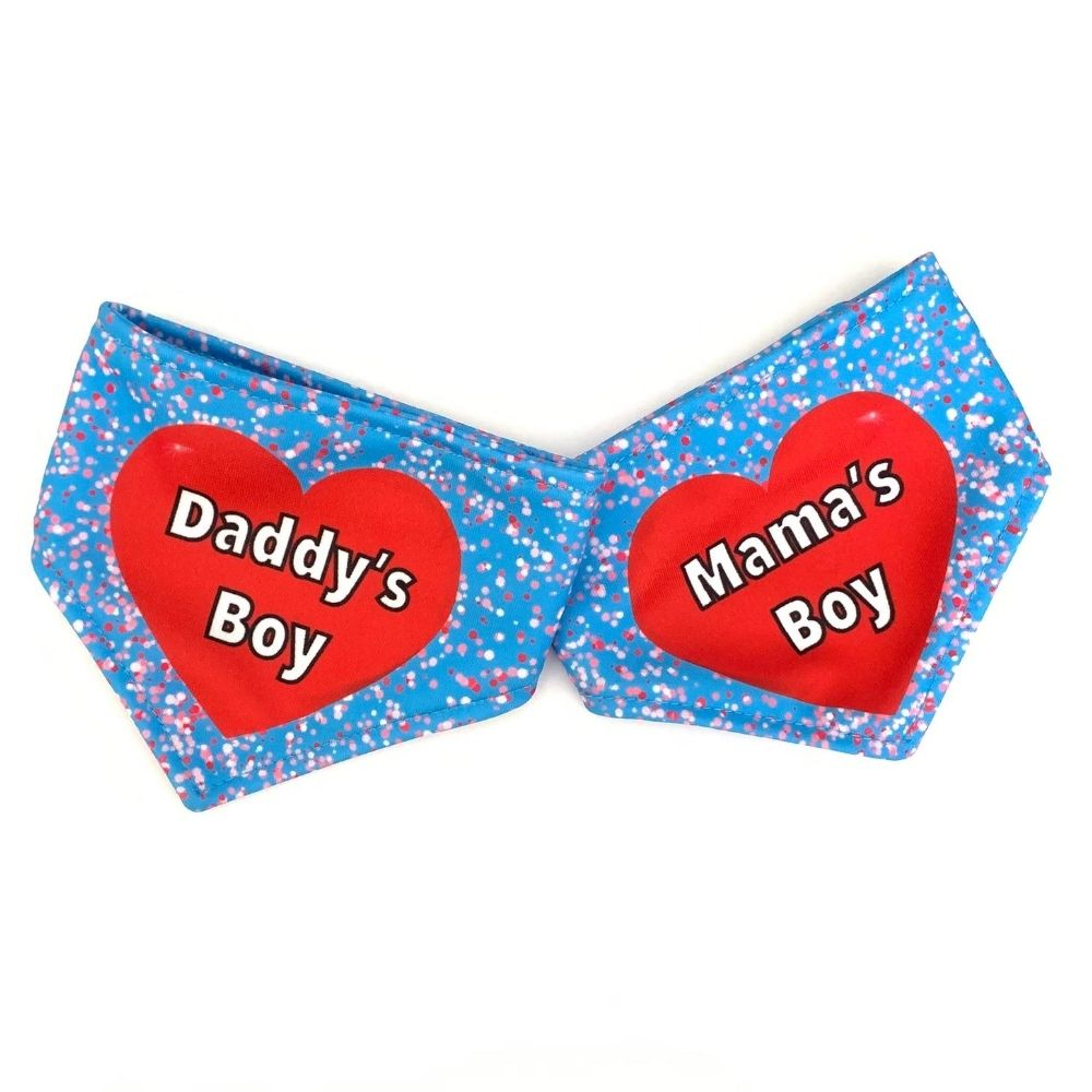 A Daddy's Boy /  A Mama's Boy Reversible Dog Bandana