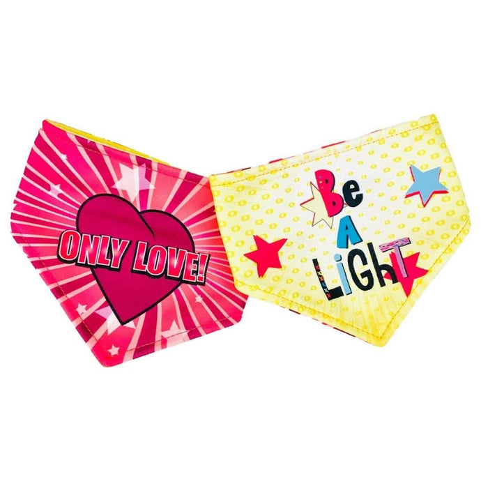 Only Love / Be A Light Reversible Dog Bandana