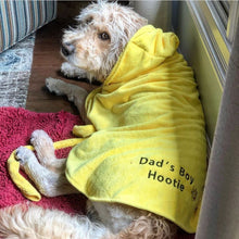 Load image into Gallery viewer, Yellow Dripping Dog® Bathrobe with Embroidery