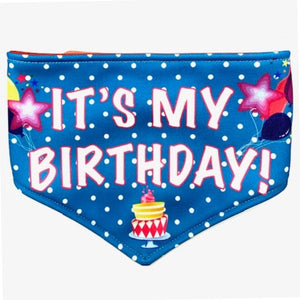 It's My Birthday Reversible Dog Bandana