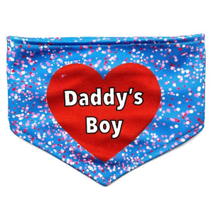 A Daddy's Boy Reversible Dog Bandana