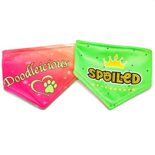Load image into Gallery viewer, Doodleicious / Spoiled Reversible Dog Bandana