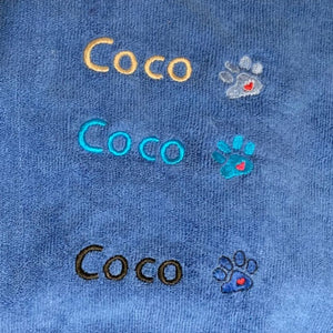 Embroidery Color Options for Blue Robes