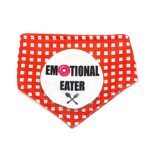 Load image into Gallery viewer, Emotional Eater / Don't Worry Be Happy Reversible Dog Bandana