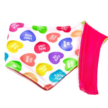 Load image into Gallery viewer, FIRST KISS REVERSIBLE DOG BANDANA