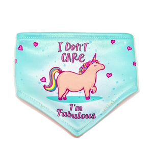 I Don't Care I'm Fabulous / I'm Floofy and Flamazing Reversible Dog Bandana