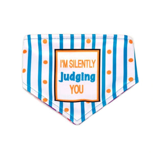 Sorry If I Look Interested I'm Not / I'm Silently Judging You Reversible Dog Bandana