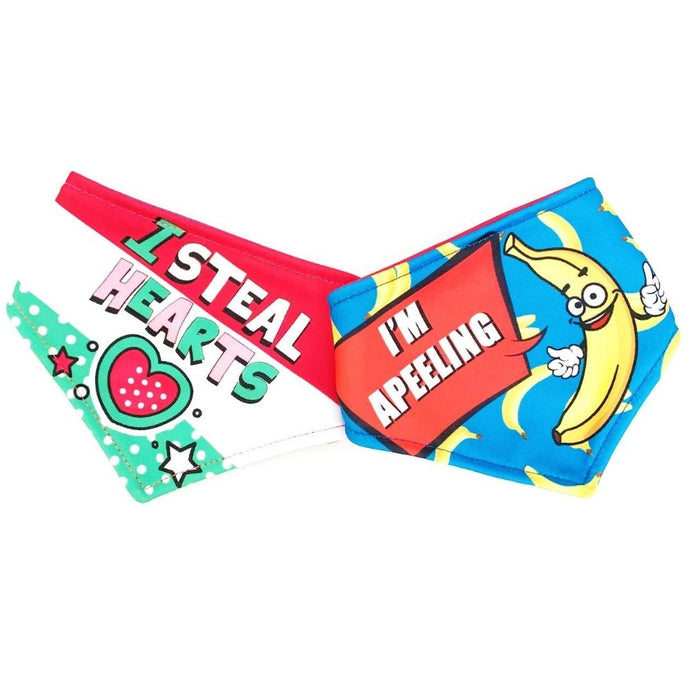 I Steal Hearts / I'm Apeeling Reversible Dog Bandana