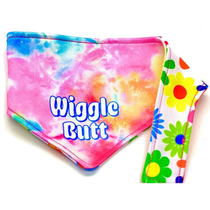 WIGGLE BUTT REVERSIBLE DOG BANDANA