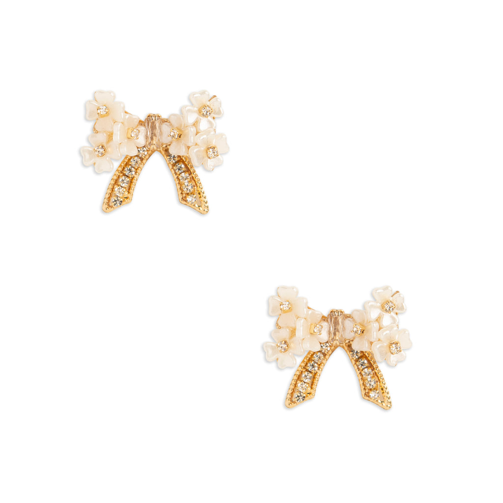 Floral Bow Stud