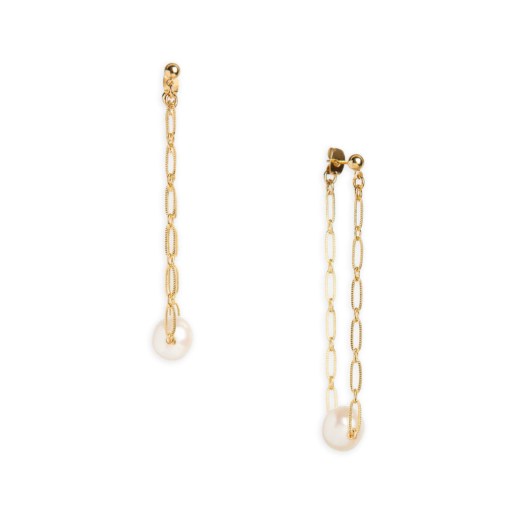 Pearl Chain Earrings