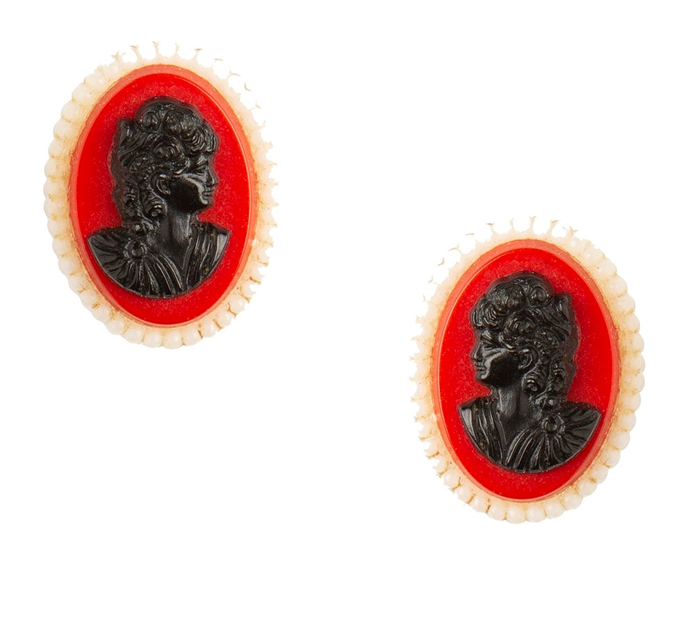 Vintage Cameo Earrings Collection