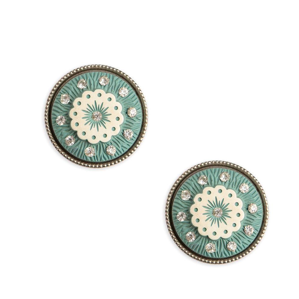 Vintage Celluloid + Rhinestone Earrings Collection
