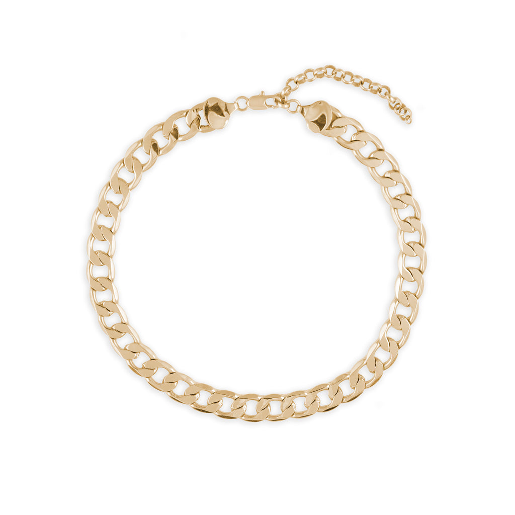 Flat Link Chain Necklace