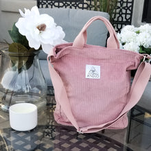 Load image into Gallery viewer, Andlo Casual Corduroy Pink Shoulder Bag