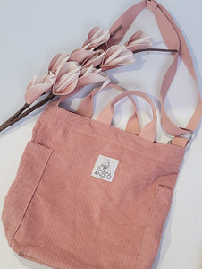 Andlo Casual Corduroy Pink Shoulder Bag