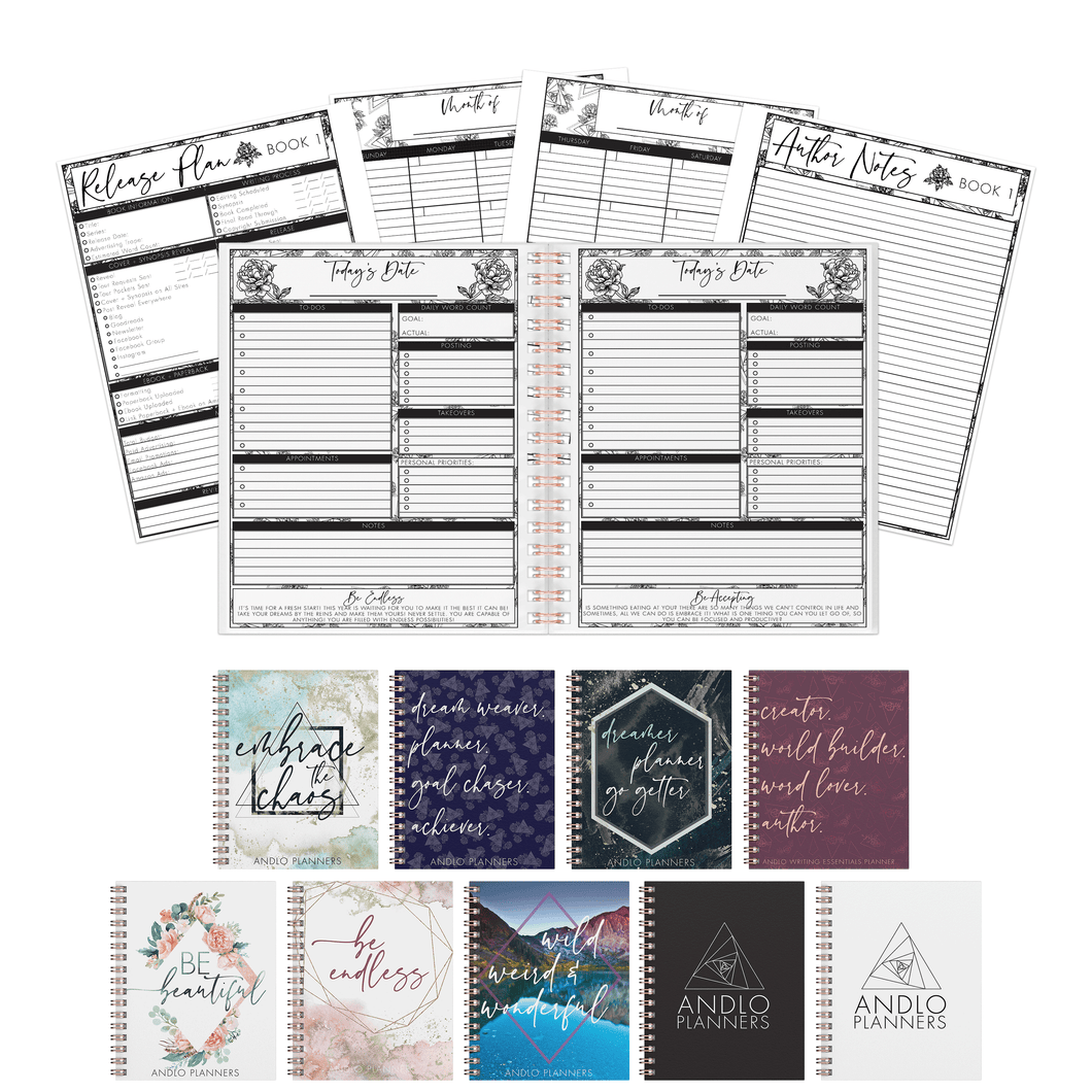 Author Daily Undated Planner (Pick Your Own Cover)