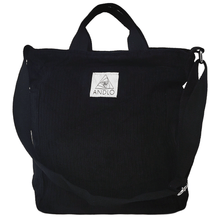 Load image into Gallery viewer, Andlo Casual Corduroy Black Shoulder Bag