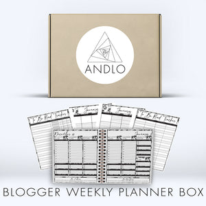 Book Blogger Weekly 2021 Planner Box (Pick Your Own Cover)
