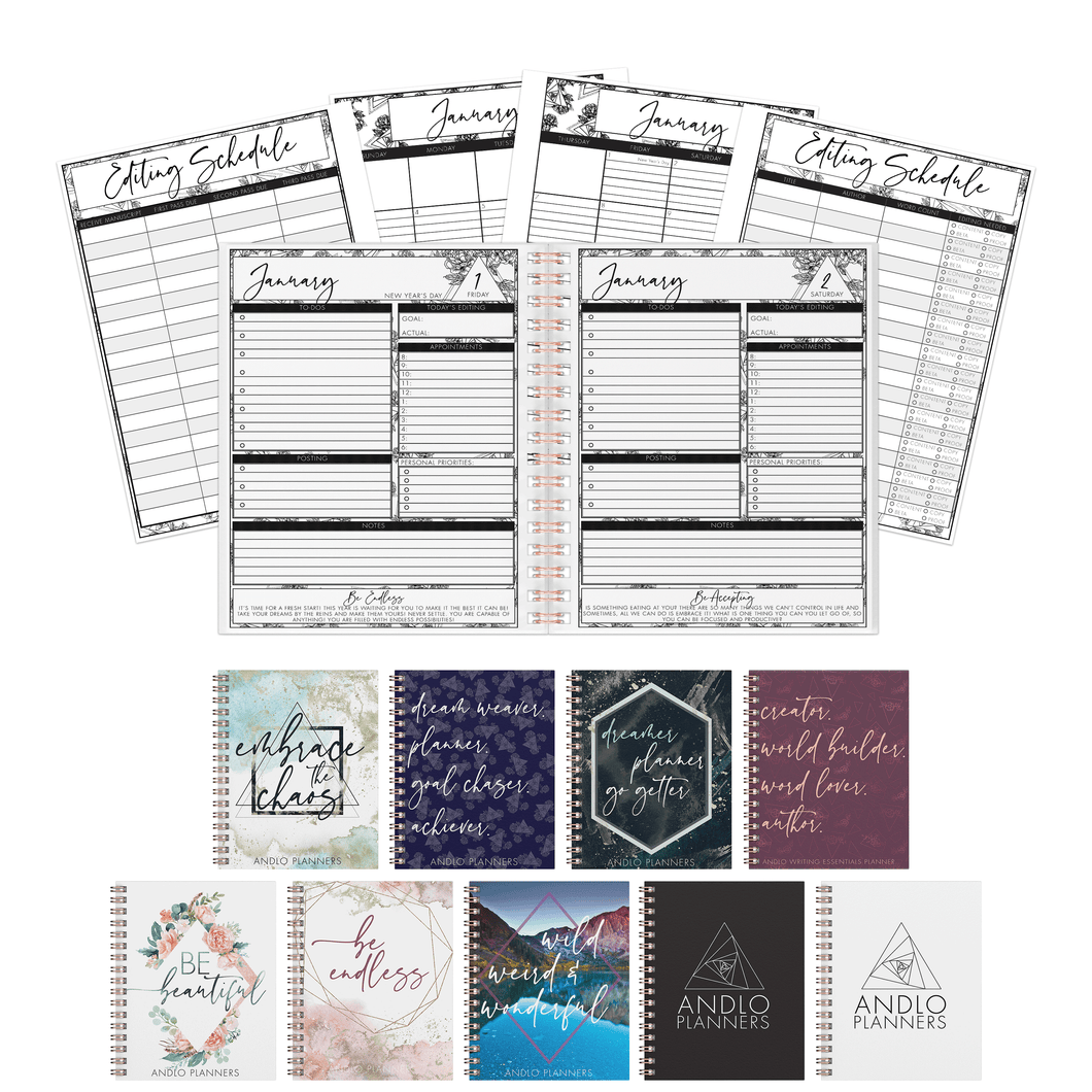 Editor Daily July to December Planner 2021 (Pick Your Own Cover)