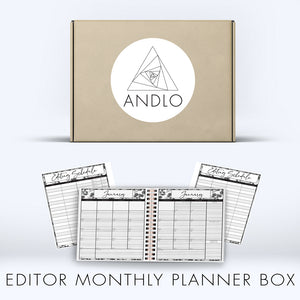 Editor Monthly Planner 2021 Box (Pick Your Own Cover)