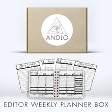 Load image into Gallery viewer, Editor Weekly Planner 2021 Box (Pick Your Own Cover)