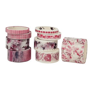Spring Flowers Pink Washi Tape Set