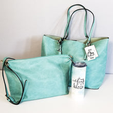 Load image into Gallery viewer, Andlo Classic 2-in-1 Turquoise Tote