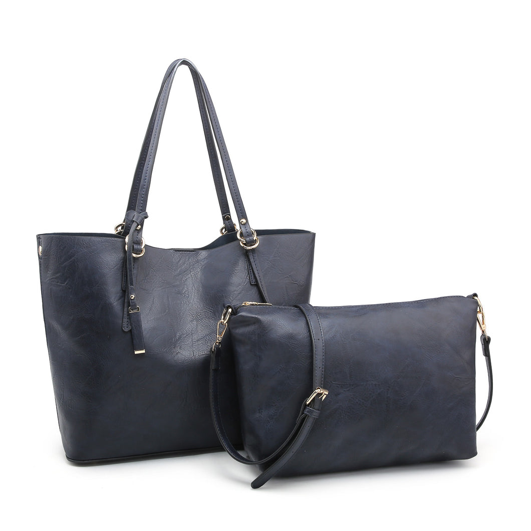 Andlo Classic 2-in-1 Navy Tote