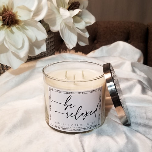 Be Relaxed 14.5oz Candle (Vanilla - Citrus - Musk)