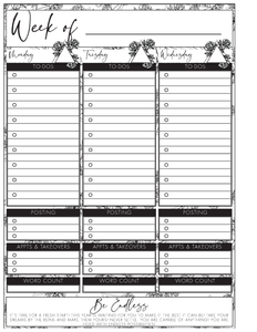 Author Weekly Undated Planner (Pick Your Own Cover)