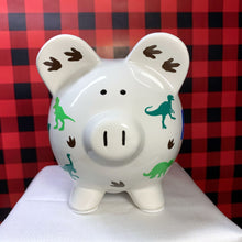 Load image into Gallery viewer, Custom Dinosaur Piggy Bank