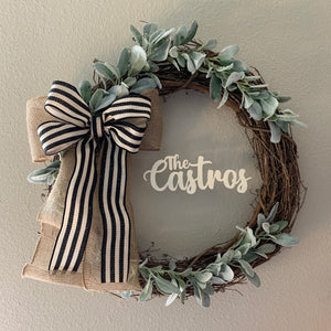 Farmhouse Custom Grapevine Wreath