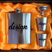 Load image into Gallery viewer, Custom Stainless Steel Flask Set