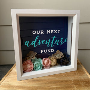 Our Next Adventure Fund Box With Sola Wood Flowers