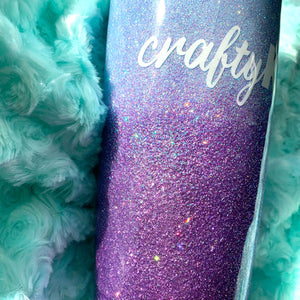 Custom Ombre Glitter Insulated Tumbler