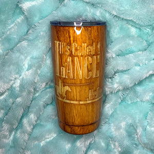 Custom Wood Grain Insulated Tumbler
