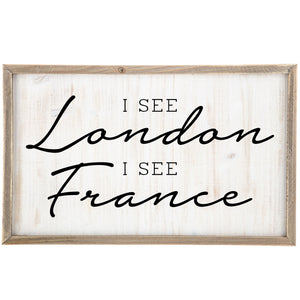 I See London I See France Bathroom Laundry Room Wall Decor