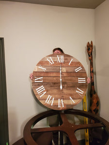 Pallet Wood Oversized Wall Clock