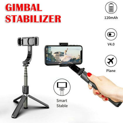 3-Axis Foldable Handheld With 360° Rotation Wireless Gimbal Stabilizer & Tripod
