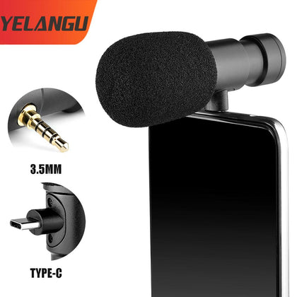 Mini Portable High Quality Wired Microphone Recording Studio Condenser Mic Wired Mikrofo/Microf for iphone12 XiaomiYELANGU MIC0