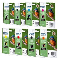 Epson T1590, T1591, T1592, T1593, T1594, T1597, T1598, T1599 genuine Ink Cartridges