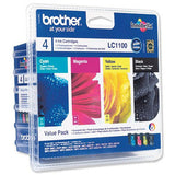 Brother LC 1100 genuine ink cartridges