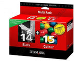 Lexmark no 14 and no 15 genuine Ink Cartridges