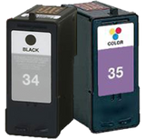 Lexmark no 34 and no 35 premium Ink Cartridges