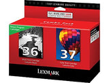 Lexmark no 36 and no 37 genuine Ink Cartridges