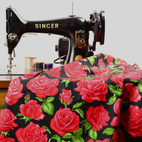 Nutex Roses Are Red 8890 Blossom Cotton Fabric