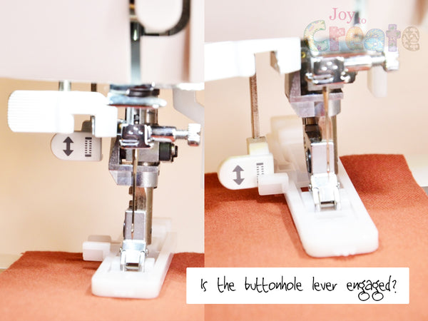 Is the buttonhole lever engaged on your machine?