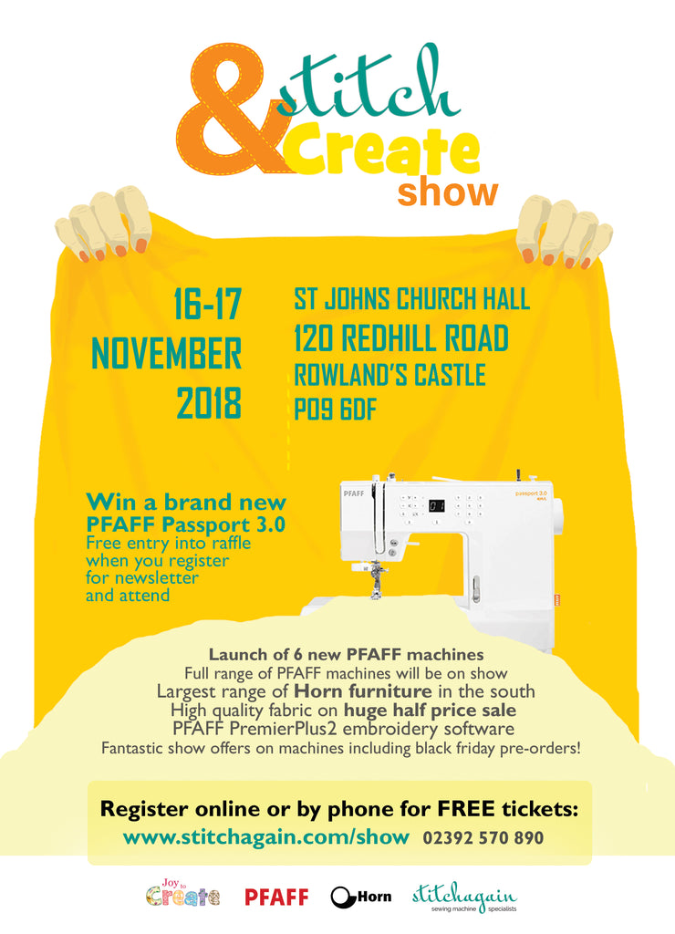 Stitch and Create show poster