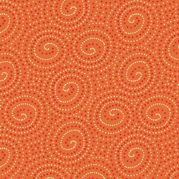 Makower Beth Studley Walkabout 1385/N Spiral Orange